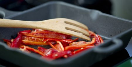bowl with red peppers and a wooden fork 1122 973